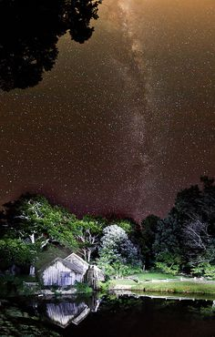 Milky Way over Mabry Mill, Blue Ridge Parkway, Floyd, Virginia