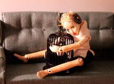 OOAK wooden miniature ball jointed art doll by MonkEyGstudio, $700.00
