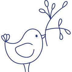 Bluework bird