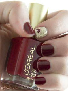 Red & Glamour Nails ❤️ Fcsalon.com