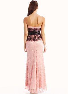 contrasting lace strapless formal @Cindy Wira!!