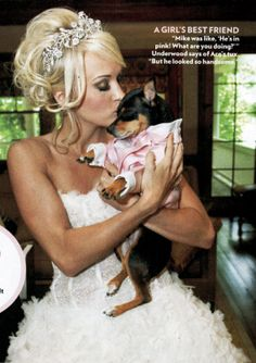 Carrie Underwood and her Min Pin, Ace.