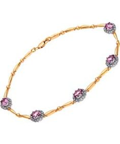 This 9ct Yellow Gold 15 Point Carat Diamond Amethyst Bracelet from Argos is the definition of stunning elegance.