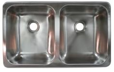 """RV Sink, Double, Stainless Steel, 25"""" x 15"""""""