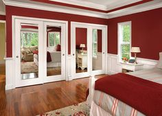 Maybe update mirrored sliding closet doors with these?
