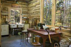 Potting shed rustic garage and shed
