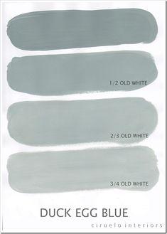 interior colors, color palettes, chalk paint, anni sloan, duck egg blue, annie sloan, paint colors, color charts, accent colors