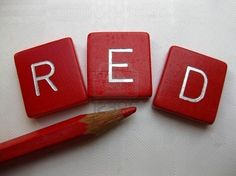favorit color, red stuff, the color red, one word, scrabble tiles, black white, seeing red, simply red, scrabble letters