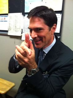 Thomas Gibson makes me watch bad tv. (Here as Aaron Hotchner in Criminal Minds)