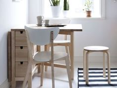 Small Kitchen Table with Storage Design