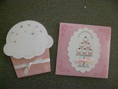 Cupcake gift card holder