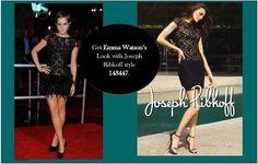 Joseph Ribkoff Lace Black Dress.  #emmawatson #look
