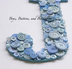 Buttons and Butterflies: Button Name Art