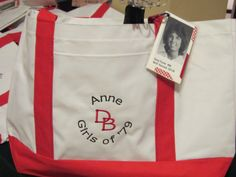 High School Reunion bags  Laminated high school pictures as  luggage tags.