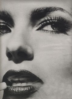 """Smoking Section"", W US, November 1994  Model : Paulina Porizkova"