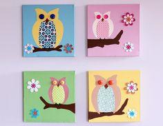 Owl nursery painting