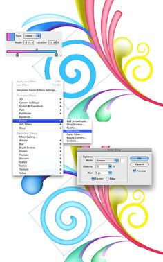 Adobe Illustrator - Swirls tutorial