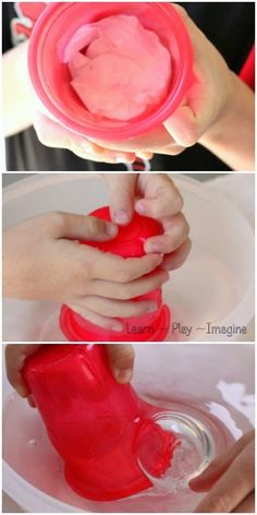 Cool water science for kids - keeping a tissue dry under water!