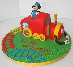 Kody 39 s 2nd birthday on pinterest 44 pins for Disney mickey mouse motorized choo choo train with tracks