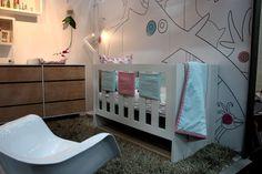 Project Nursery - Girl Pink and Aqua Nursery Room View
