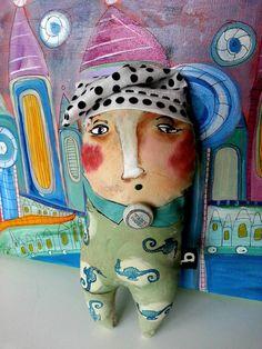 Art Doll Doll Soft Sculpture Stuffie Textile Art by TaraRossShop