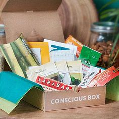 Get natural, non-GMO products delivered to your door. Whether it's snacks or coconut lip butter, Conscious Box has your back.