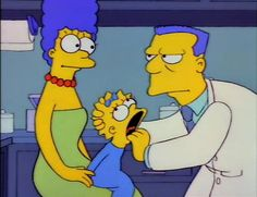 DR. WOLFE:  Maggie's teeth are coming in rather crooked. Has she been sucking on a pacifier?