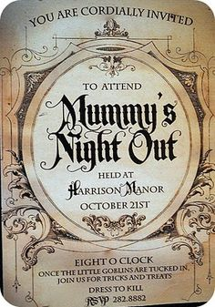 Mummys night out invite