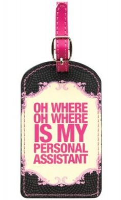 personal assistant luggage tag