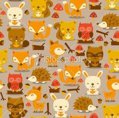 graphic animalswoodland, graphic inspir, print inspir, pattern insp, art prints, woodland creatures, pattern art, kid pattern, creatur pattern