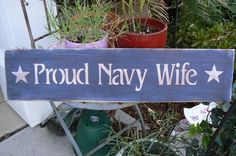 PROUD NAVY WIFE Americana Primitive Wood by tinkerscottage on Etsy, $18.00