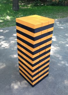 Handmade Giant Toppling Timbers Outdoor Game by Yardtastic on Etsy