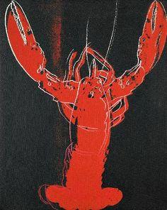 Andy Warhol: Lobster, 1984.