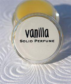 Vanilla Solid Perfume by daisycakessoap on Etsy, $3.00