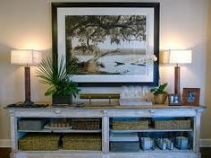 decor, dining rooms, buffet tables, green homes, cabinet, foyer, room storage, entryway, console tables