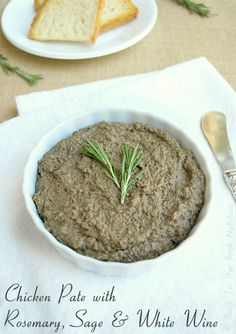 Chicken Pate with Rosemary, Sage & White Wine 2 | www.backtothebooknutrition.com/blog