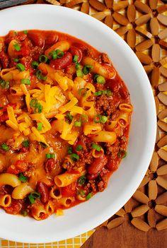 i Home Making | Skillet Chili Mac & Cheese