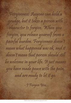 stood happened forgive person