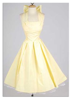 1950s, yellow, bow, LOVE IT!!!!