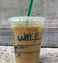 A collection of hilarious Starbucks name-on-the-cup mishaps from Pat's Papers. Love these!