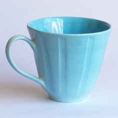 Would love a set of 6 of these gorgeous aqua large cups from Frances Palmer Pottery!.. to go with matching cereal bowls!!