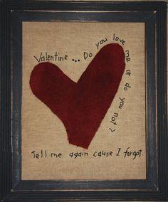 Primitive Valentines Day PATTERN