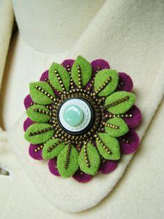 Zipper Felt Flower