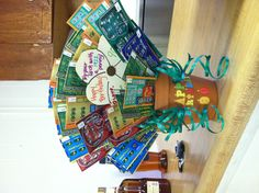 Lottery ticket gift basket for grandpa's 90th birthday