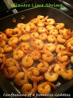 (Not recipe pinned) Melt a stick of butter in the pan. Slice one lemon and layer it on top of the butter. Put down fresh shrimp, then sprinkle one pack of dried Italian seasoning. Put in the oven and bake at 350 for 15 min. Best Shrimp you will EVER taste:)