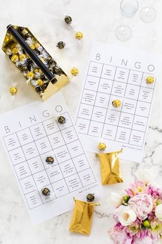 DIY bingo cards for