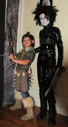 Astrid (How to train your dragon), and Edward Scissorhands costumes