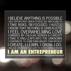 own business, entrepreneur, chalkboard walls, success quotes, mission statements, dream, inspirational quotes, coaching quotes, motiv