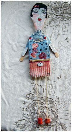 """shanghai lily"" paper mache art doll by peregrine blue, via Flickr"