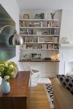 Built-in desk-- inside closet!!!!